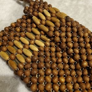 Vintage wooden bead bag